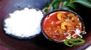 Nadan Chemmeen Mulakittathu - Red Prawn Curry