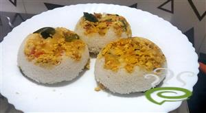 Scrambled Egg Puttu-Egg Bhurji Puttu