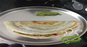 Veggie Curry Leaves Chutney Dosa