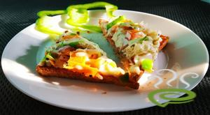 Wheat Bread Veg Pizza